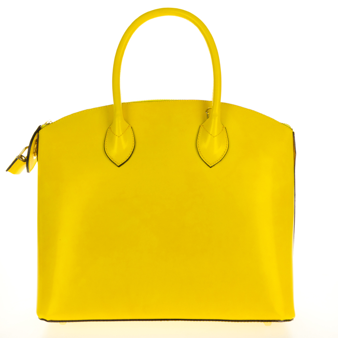 leather-tote-yellow